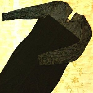 Sz 14 - Velvet and Lace Long Dress - Gown